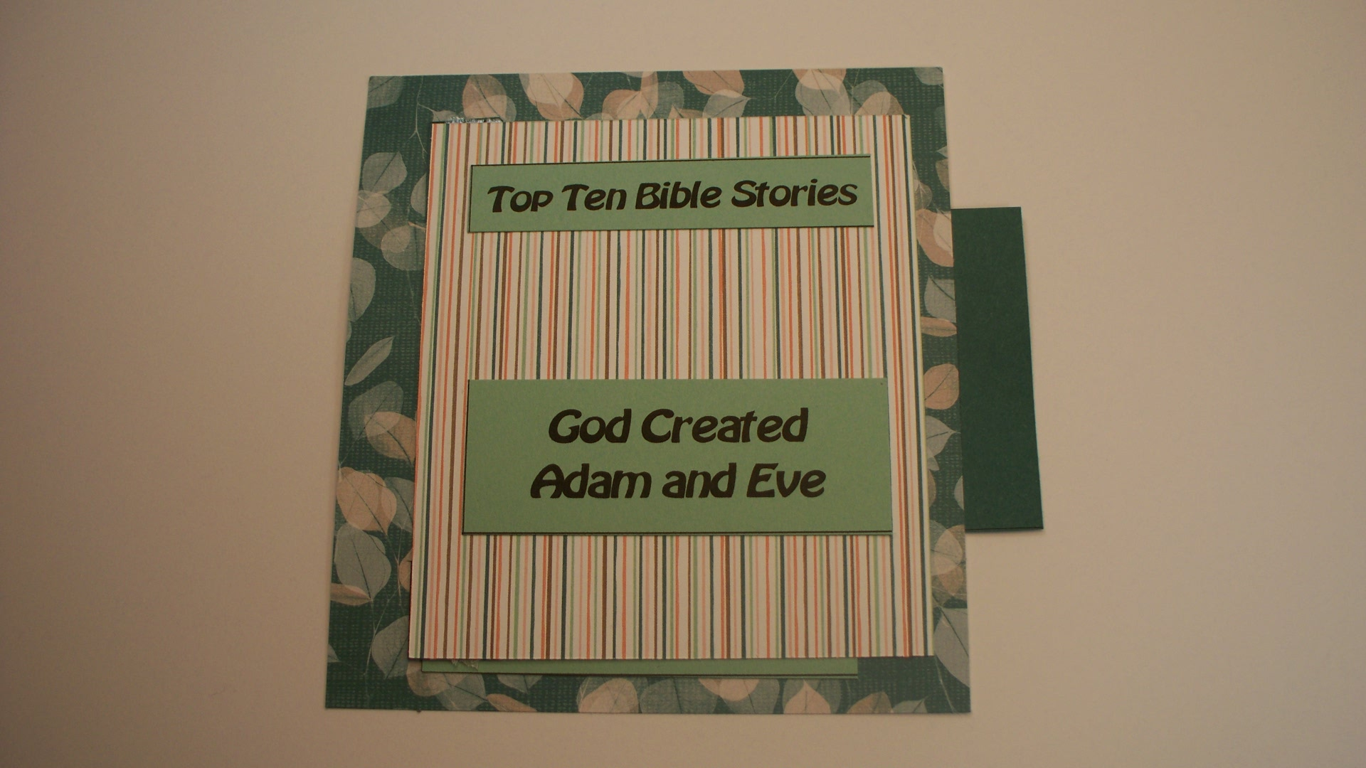 Adam and Eve Bible Papercraft
