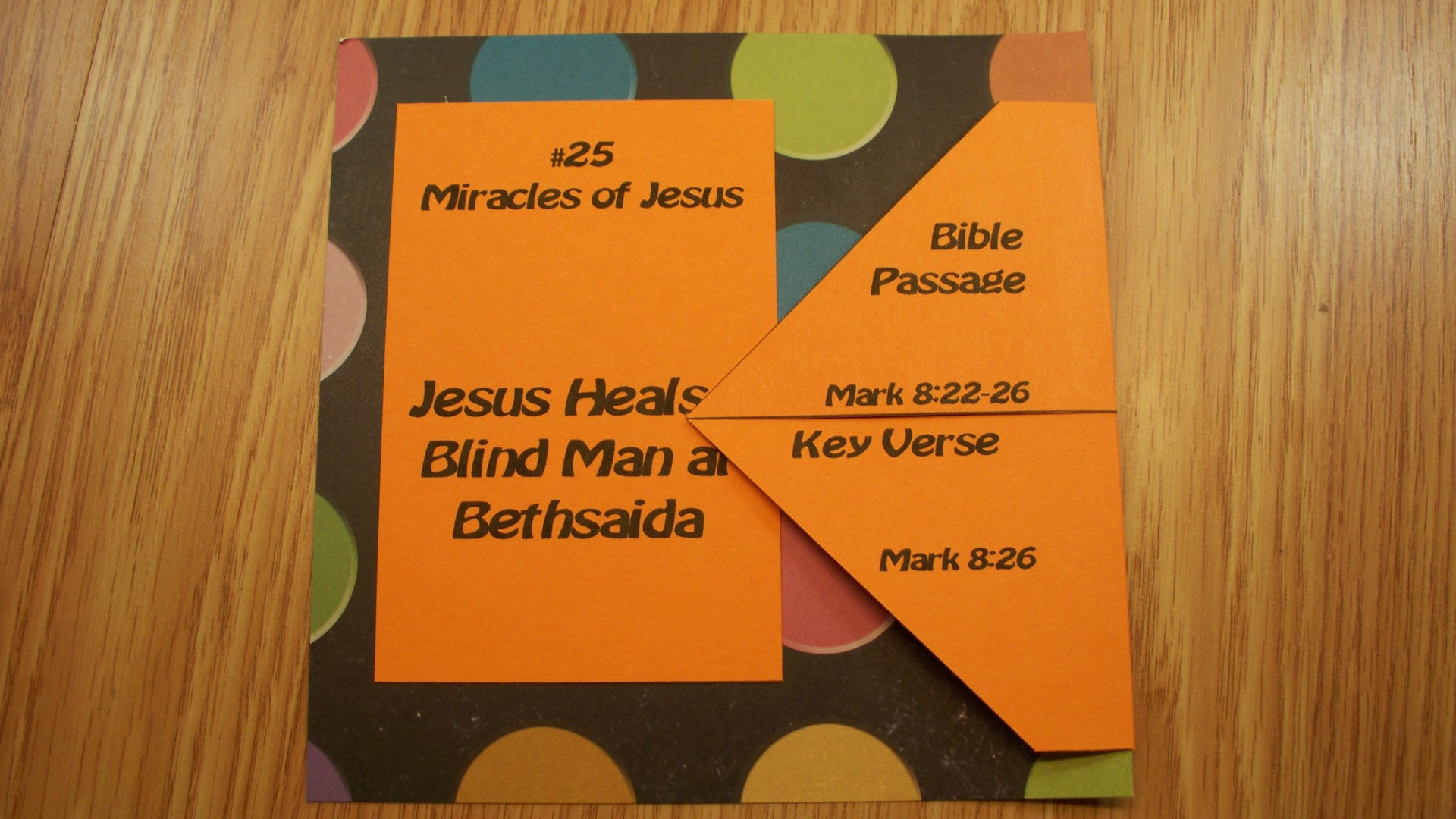 Jesus Heals A Blind Man At Bethsaida