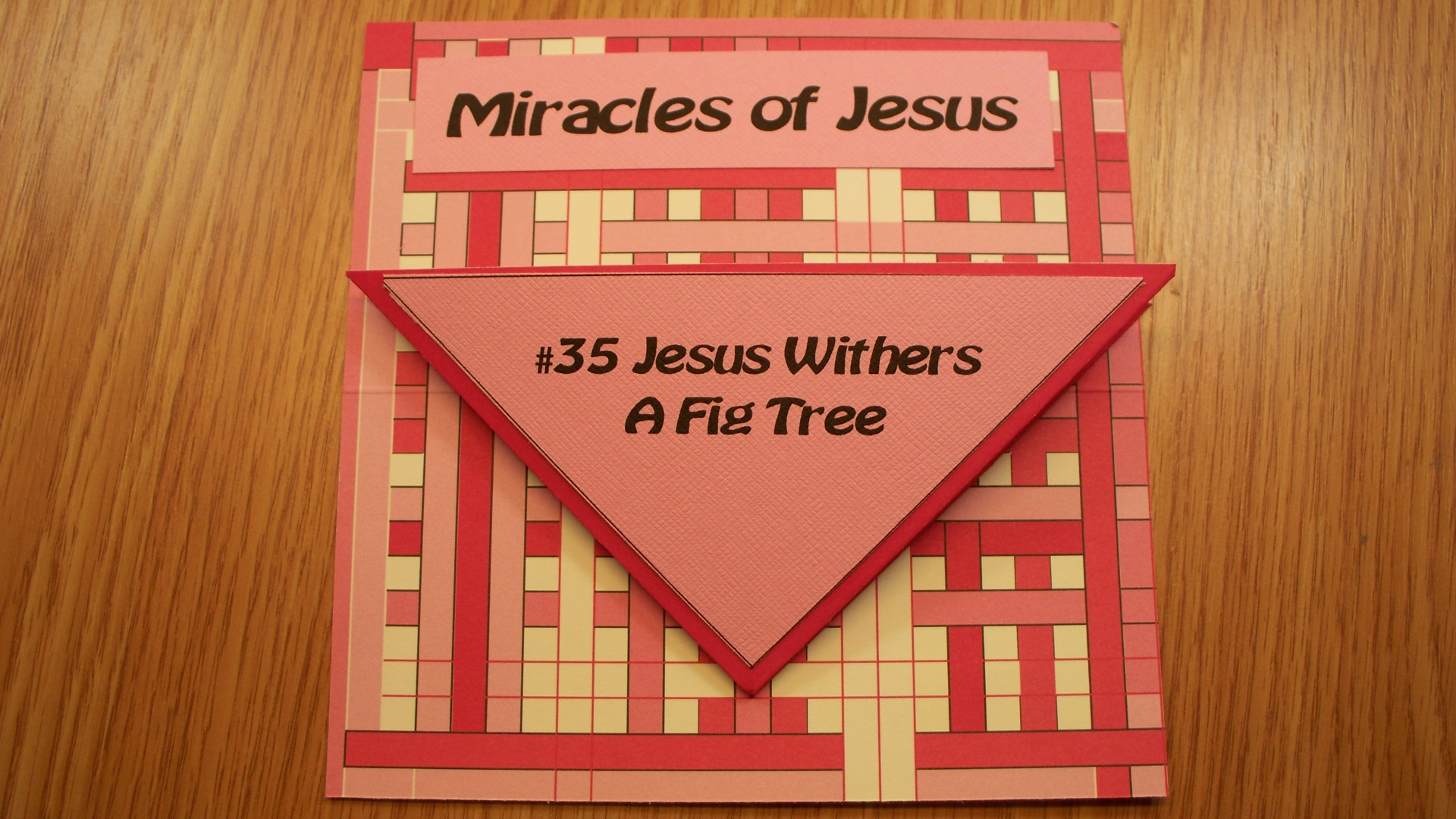 Jesus Withers A Fig Tree Paper Craft