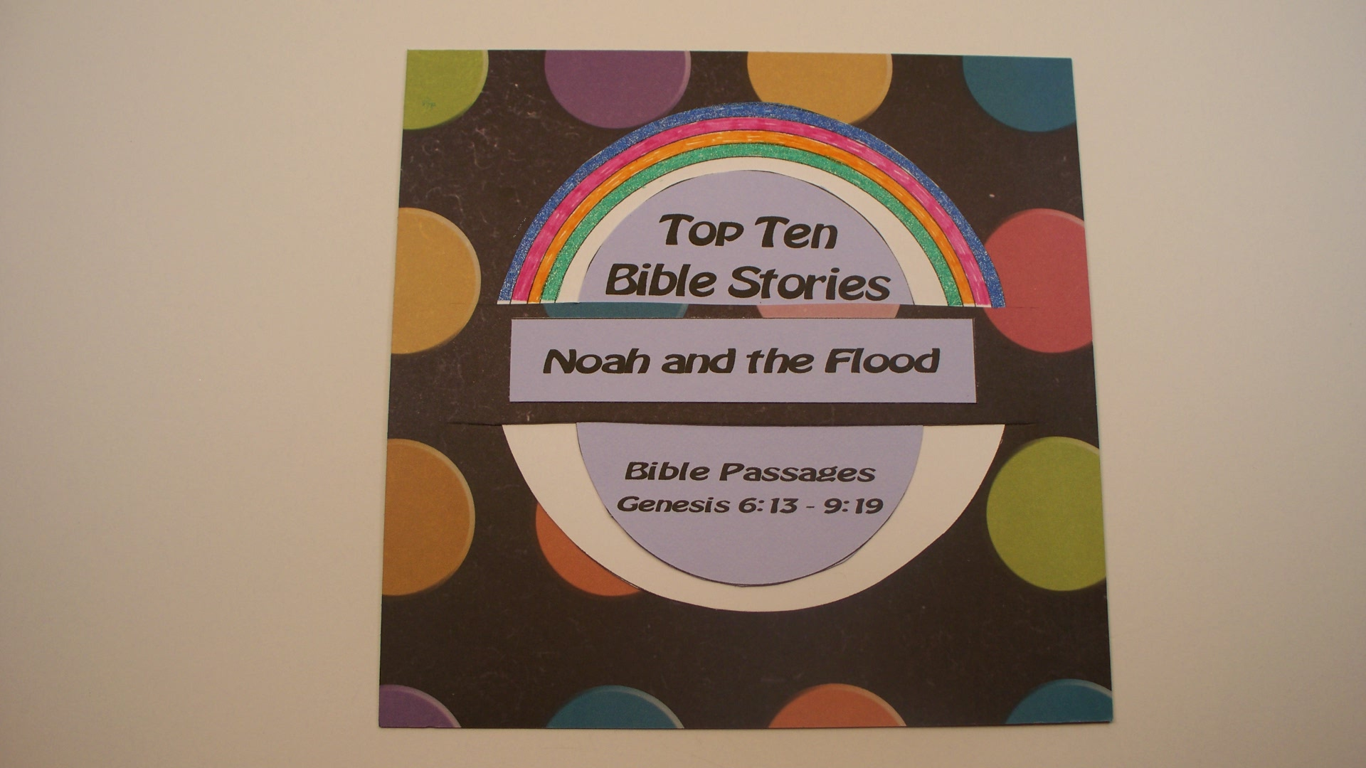Noah and the Flood Paper Craft