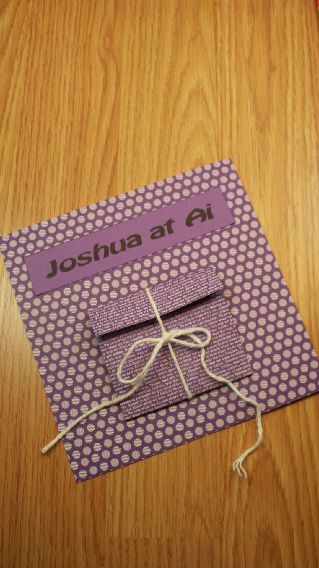 Joshua 7, Joshua At Ai Paper Craft Activity